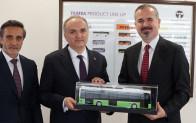 Bakan Özlü, TEMSA'nın elektrikli otobüsünü test etti