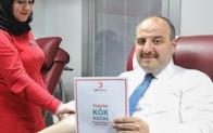 Sanayi ve Teknoloji Bakanı Mustafa Varank, ilik donörü oldu