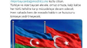 Sözcü Kalın: Türkiye ve Azerbaycan her türlü tehdite karşı mücadeleye devam edecek